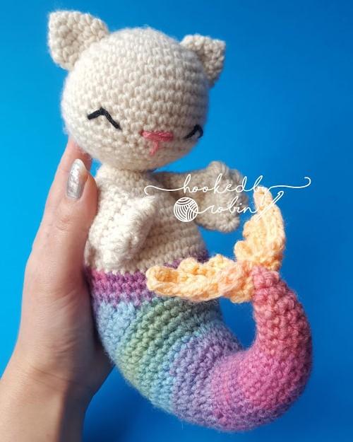 Crochet Purrmaid Mermaid Cat Pattern