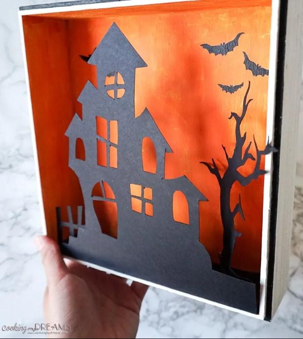 DIY EASY HALLOWEEN SHADOW BOX