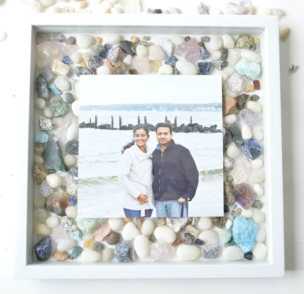 DIY Gemstones Picture frame Shadow