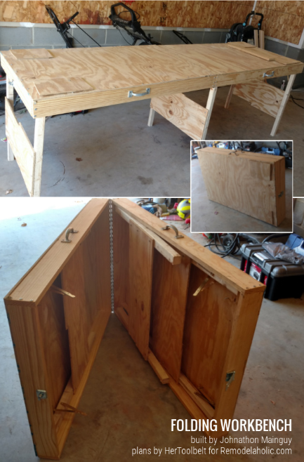 DIY PORTABLE FOLDING WORKBENCH OR LARGE FOLDABLE TABLE