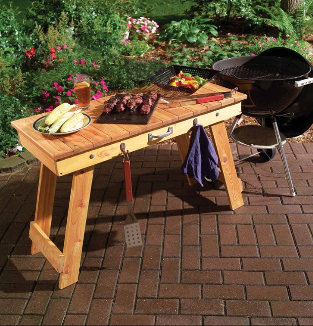 Fold Up Grill Table