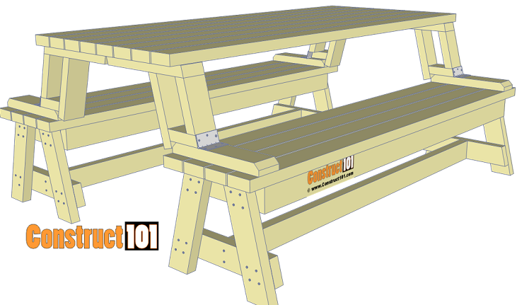 Folding Picnic Table Plans – Easy To Build Projects