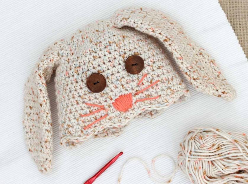 Free Crochet Bunny Hat Pattern Newborn Child