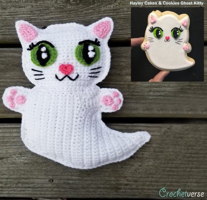 Free Ghost Kitty Ragdoll Crochet Pattern