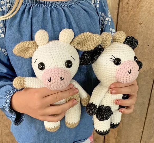 Free Mini Crochet Cow Pattern