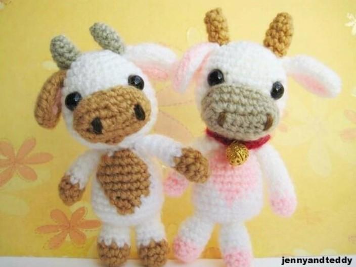 Lolly baby cow amigurumi free pattern