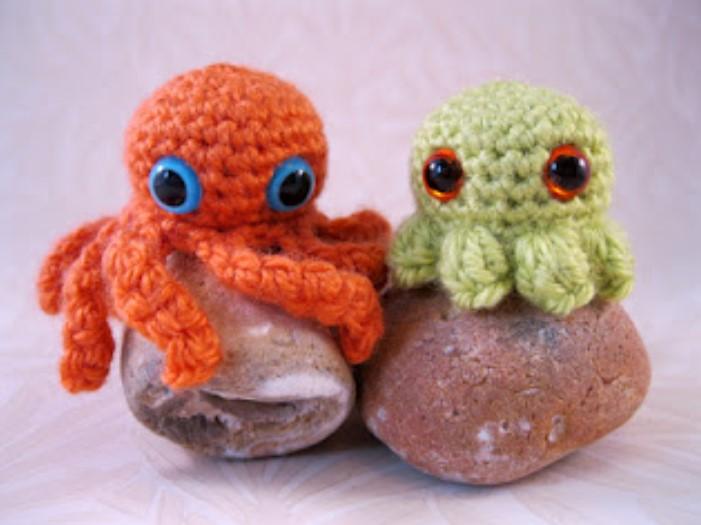 Mini Crochet Creatures Baby Octopuses