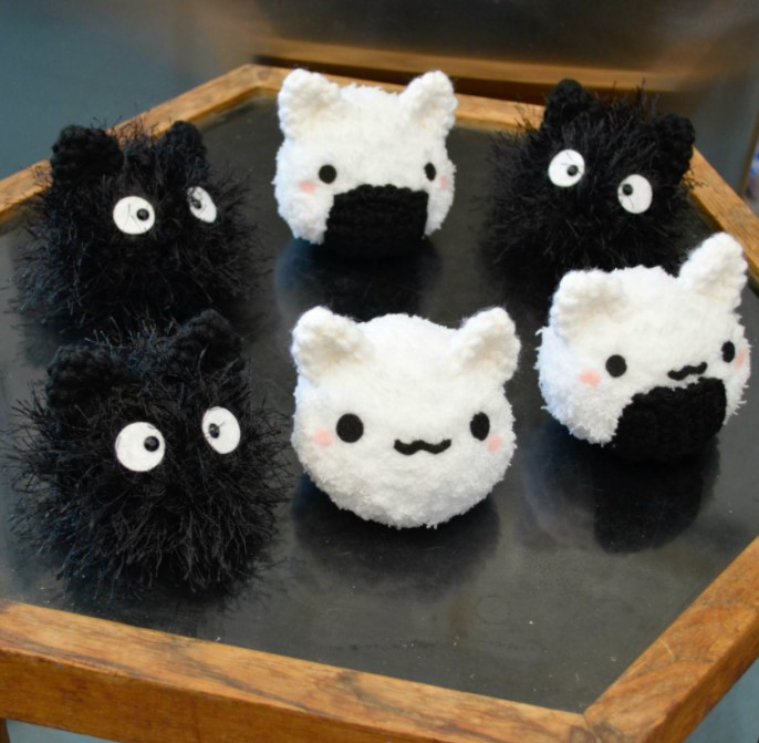 Mochi Cat Amigurumi and Riceball Kitty
