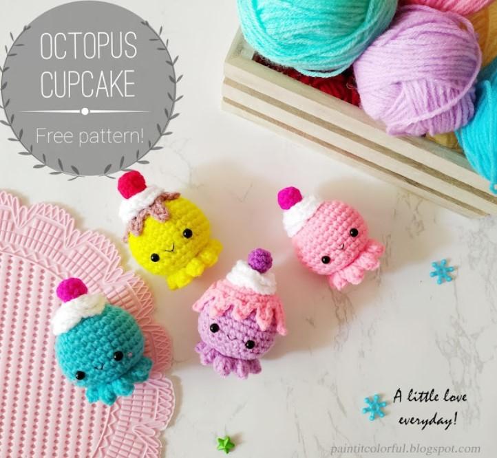 Octopus Cupcake amigurumi pattern
