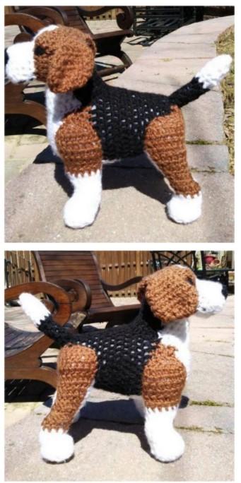 Teckel Amigurumi Dog Free English Pattern