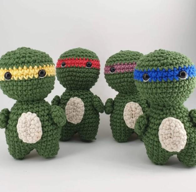 Teenage Mutant Ninja Turtle inspired patterns