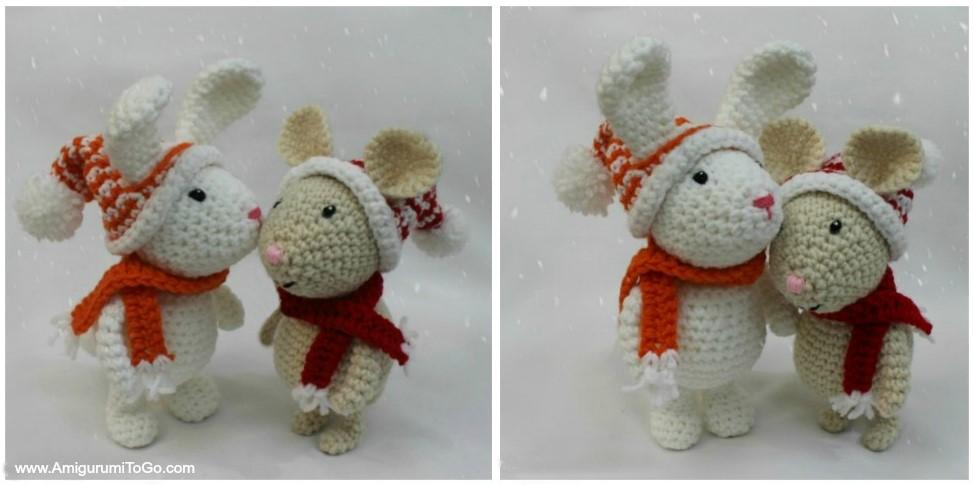 Winter Bunny Free Amigurumi Pattern