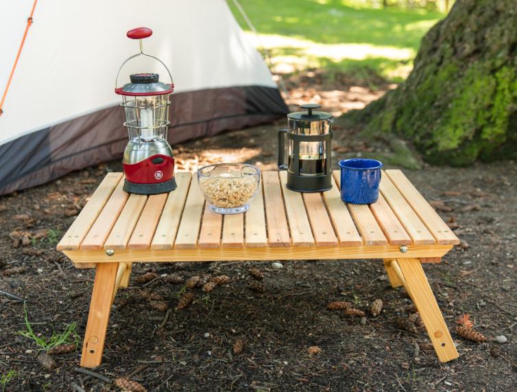 a DIY Folding Camping Table
