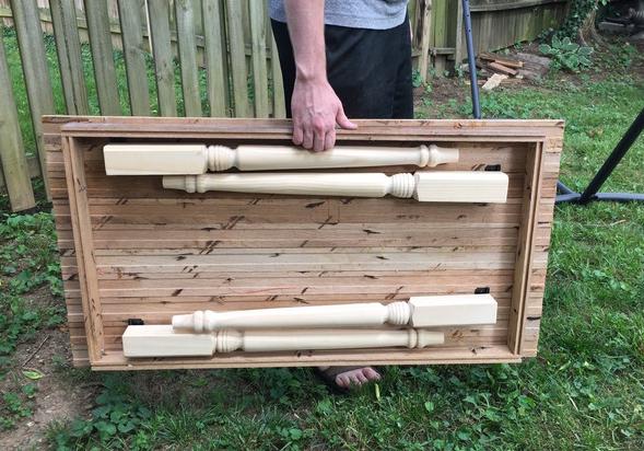 a Folding Farmhouse Table from Reclaimed Wood