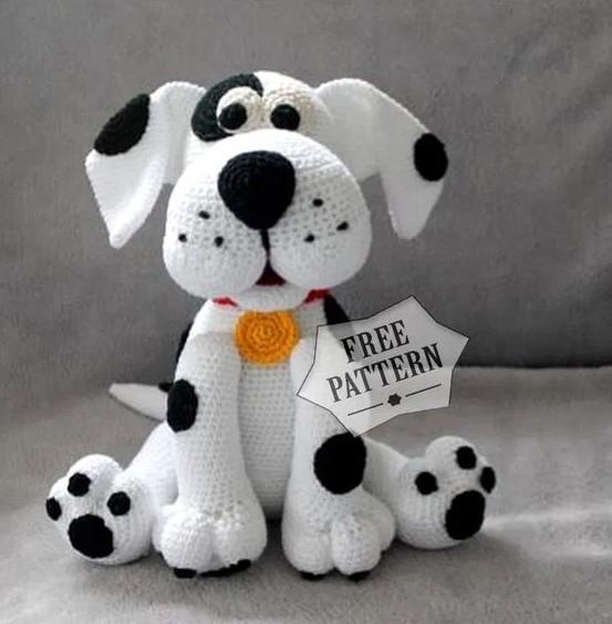 amigurumi dalmatian dog free pattern 2