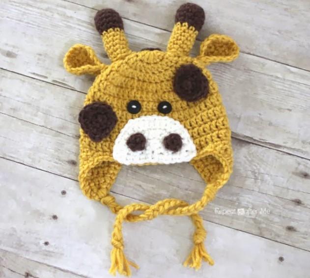 crochet giraffe hat pattern