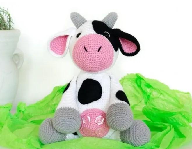 free crochet cow pattern