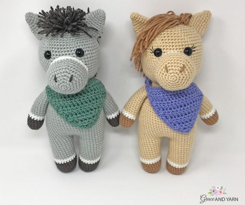 Crochet Horse and Donkey
