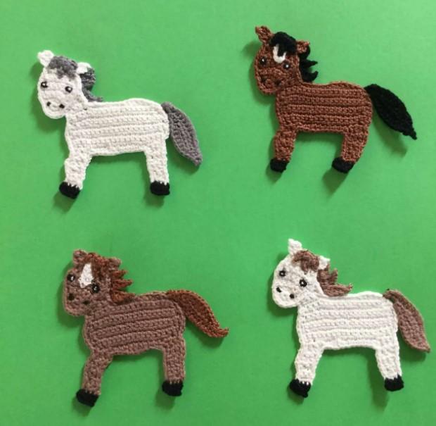 Flat Horse Crochet Pattern