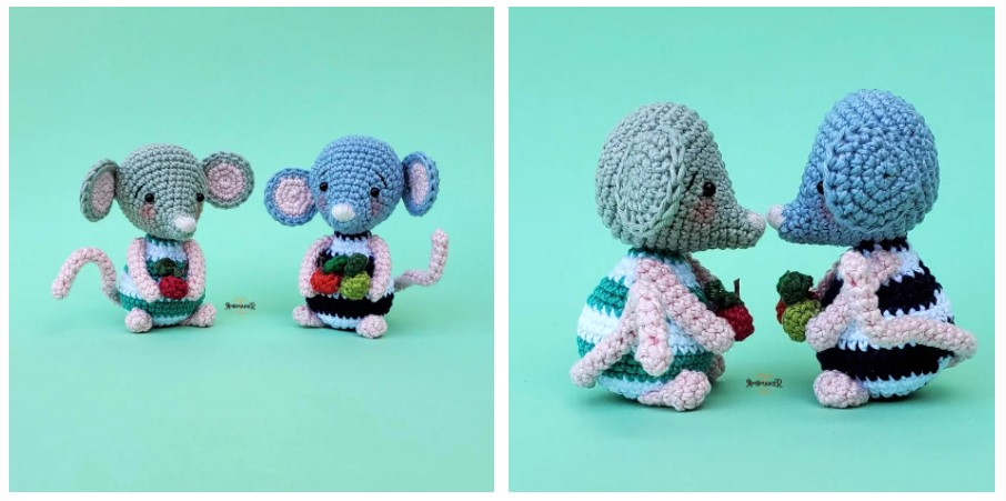 amigurumi little mouse free crochet pattern