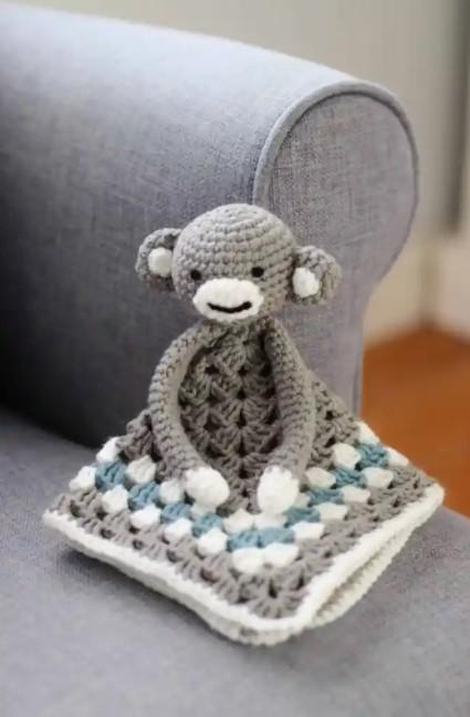 crochet monkey blanket